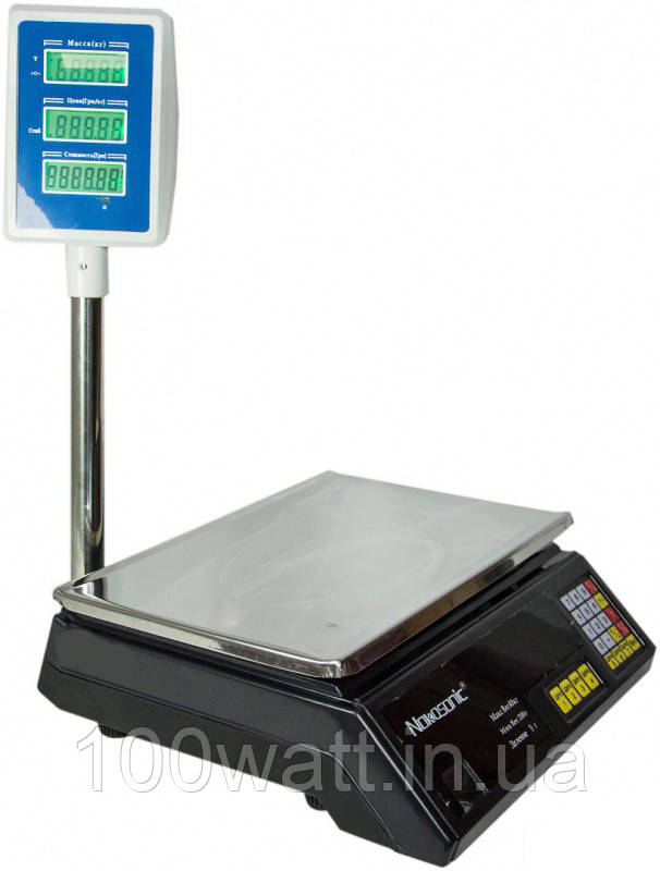 Ваги електронні торгові зі стійкою на 40 кг Nokasonic(лічильник ціни)ST253-2