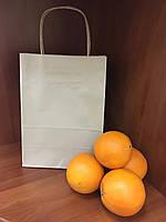 Пакет с кручеными ручками 230х170х90 (Бурый крафт), фото 1