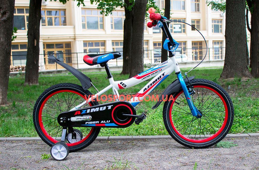 Детский велосипед Azimut Fiber 18 дюймов