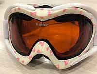 Hi-Tec Женская горнолыжная маска Cuore, лыжные очки белого цвета