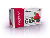 Рукавички нітрилові, рожеві Fiomex, premium - 100 шт/уп, S, фото 1