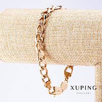 Браслет Xuping плетение Панцирное L-21см s-8,5мм цвет золото