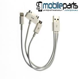 Кабель USB IT03 (micro | P1000 | Iphone4 | Iphone5) (Белый)