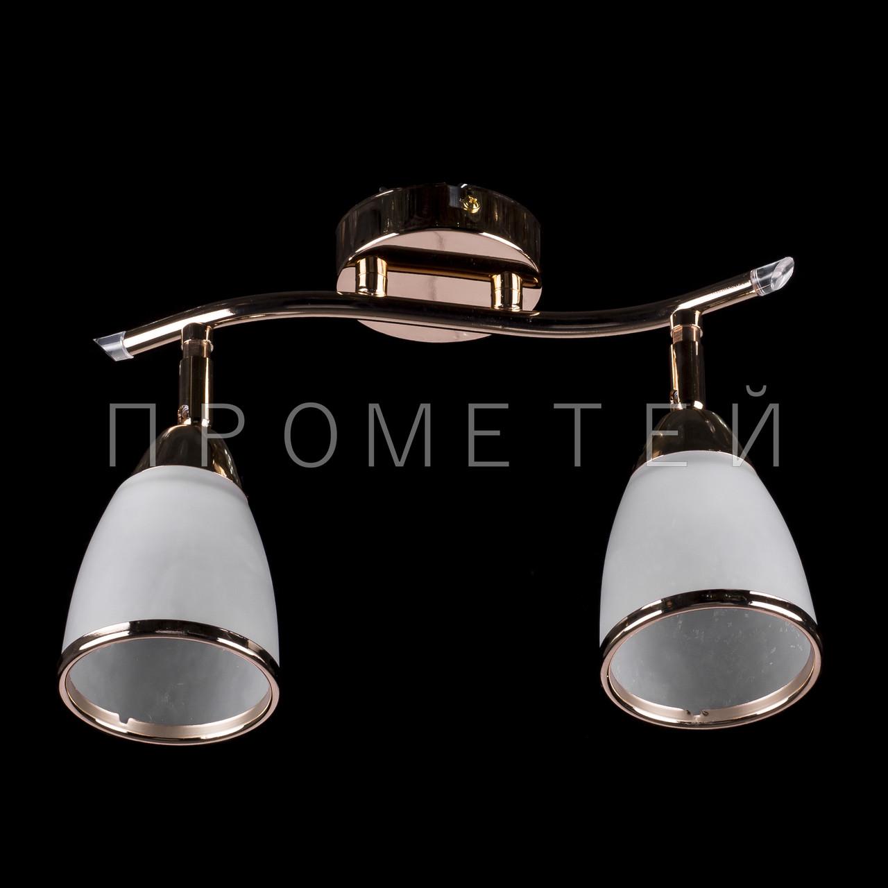 Люстра Припотолочная спот (направляється) на дві лампочки (золото) P3-76920/2C/FG+WT
