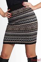 Зимняя теплая женская юбка