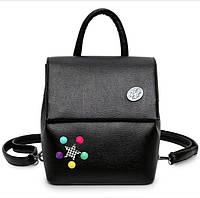 Кожаный рюкзак женский черный