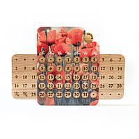 """Большой настенный вечный календарь с украинской сеткой """"Прекрасные маки"""""""