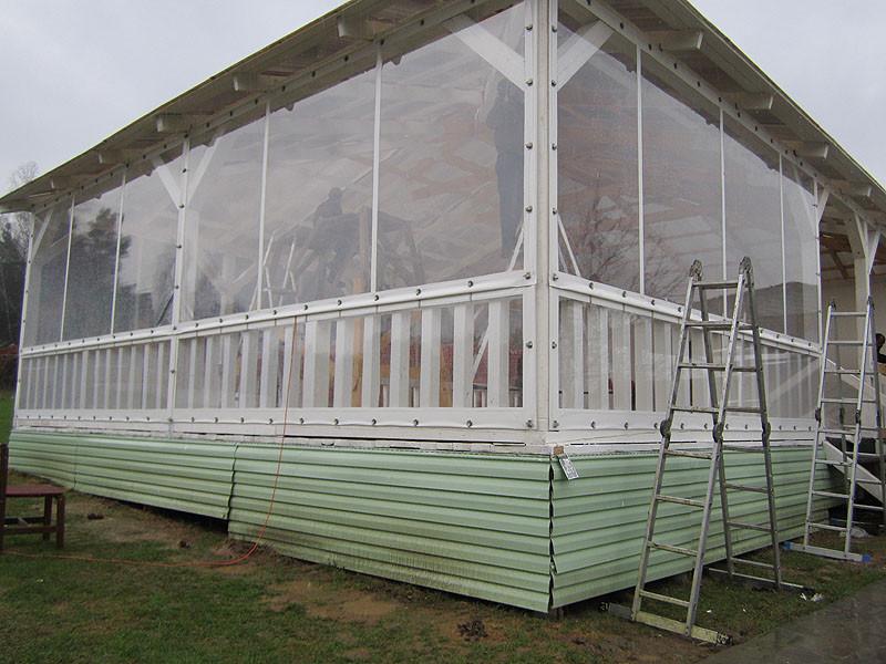 Виниловые шторы-окна от производителя