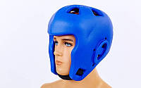 Шлем для бокса литой EVA (синий, р-р M)