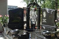 Двойное эксклюзивное надгробие с крестом № 6
