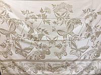 Простынь  махровая  (хлопок\лен)  208*200 Бабочки