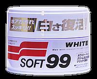 Твердый воск SOFT99 White Super Wax для светлых авто, 350 г.