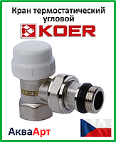 """Koer  3/4"""" Кран термостатический угловой"""