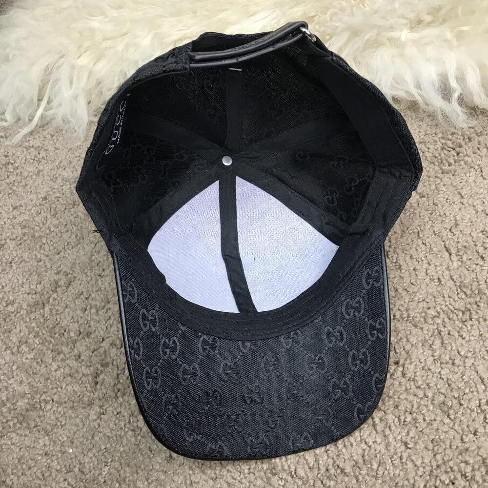 378e3b1f716 Кепка Baseball Hat Gucci Web GG Supreme Canvas Black реплика