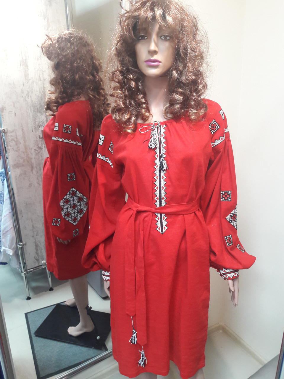 Плаття червоне квадати   продажа 52cf566fe6bca