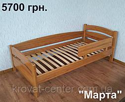 """Кровать с защитным бортиком """"Марта"""". Массив - ольха. , фото 2"""