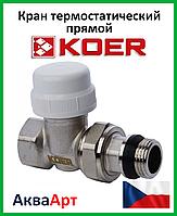"""Koer 3/4"""" Кран термостатический прямой"""