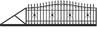 Ворота откатные металлические вариант №3