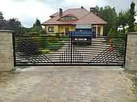 Ворота откатные металлические вариант №4