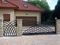 Ворота откатные металлические вариант №5