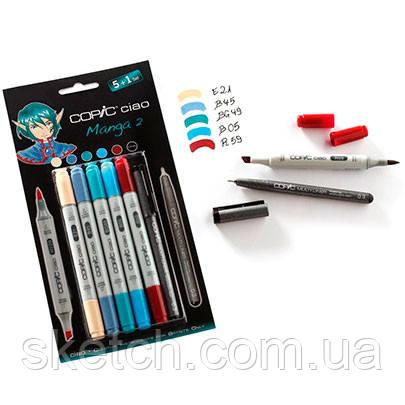 "Набір маркерів Copic Ciao Set ""5+1"" Manga 2, кольору+лайнер"