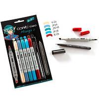 """Набор маркеров Copic Ciao Set """"5+1"""" Manga 2, цвета+лайнер"""