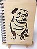 Блокнот с деревянной обложкой (Собака) 100л.