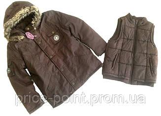 Демисезонная, зимняя куртка трансформер 3в1 для мальчика 12 лет, Sergent Major
