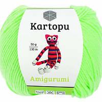 Kartopu Amigurumi - K1437 св. салатовый