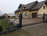 Ворота откатные металлические вариант №6
