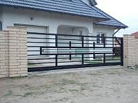 Ворота откатные металлические вариант №7