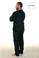 Теплая  пижама из материала софт зеленого цвета, фото 1
