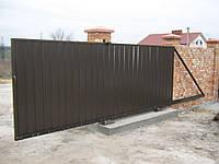 Ворота откатные металлические вариант №8