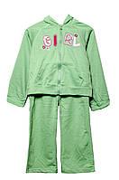 Комплект детский зеленый кофточка и штаны 116 см. OK