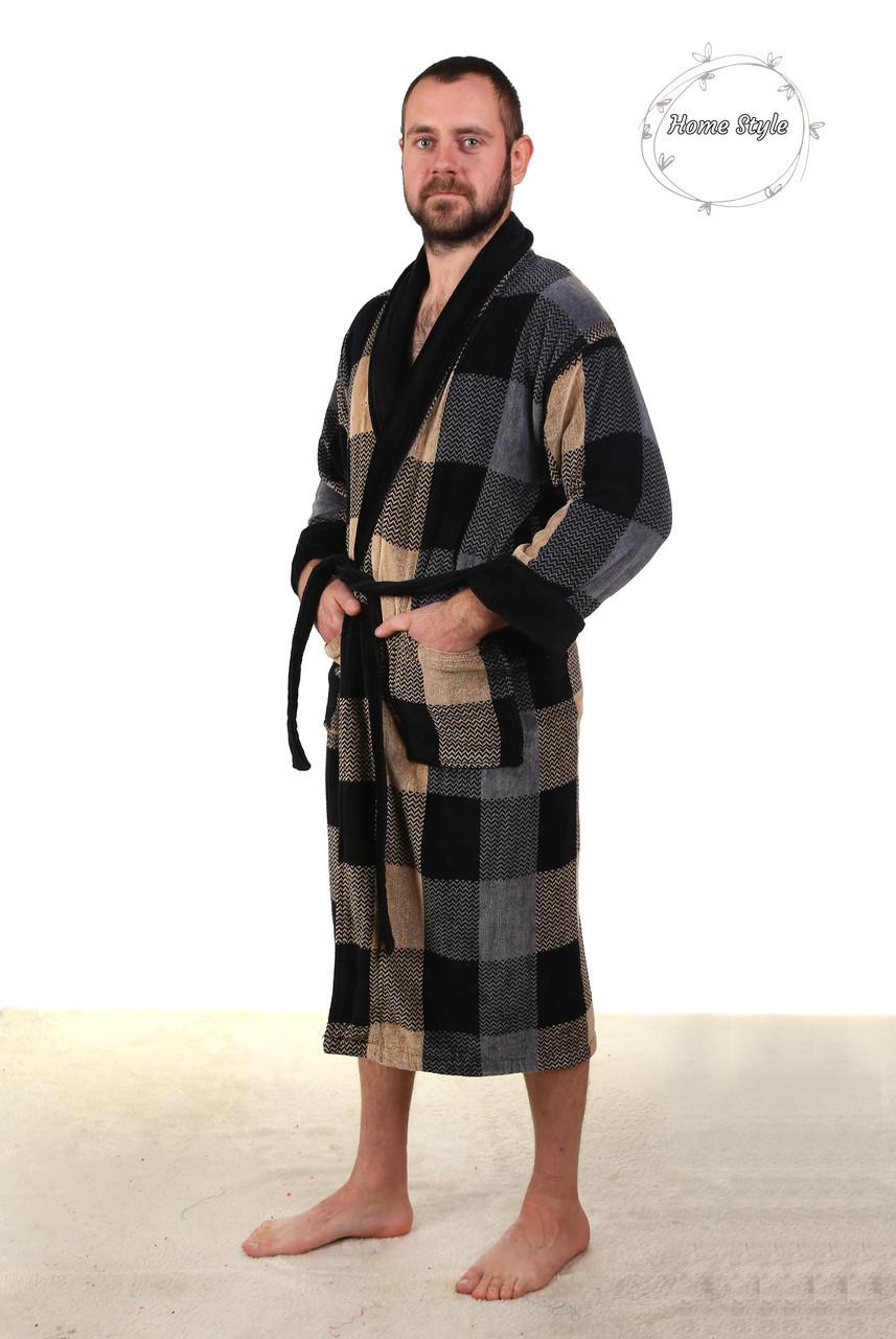 Качественный мужской халат из натуральной махры. Размеры 46-66