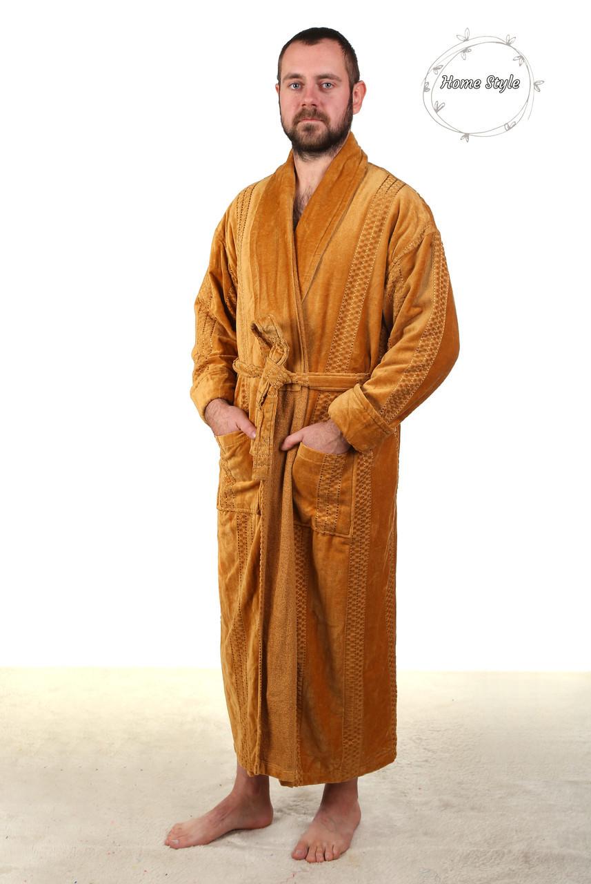 Шикарный мужской халат из натуральной махры. Размеры 46-66