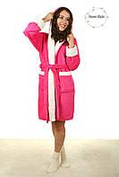 Качественный молодежный махровый халат с белой каймой. Размер 42-46, фото 1