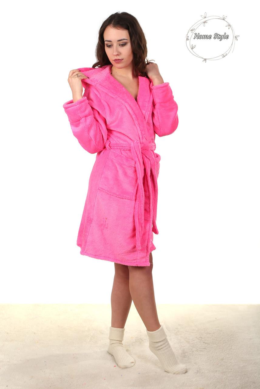 Нарядный молодежный халат нежно розового цвета. Размер 38-42