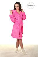Нарядный молодежный халат нежно розового цвета. Размер 38-42, фото 1