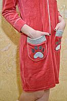 Молодежный турецкий велюровый халатик