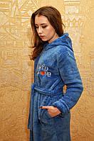 Красивый махровый халат  цвета на молнии. Размеры 44-50, фото 1
