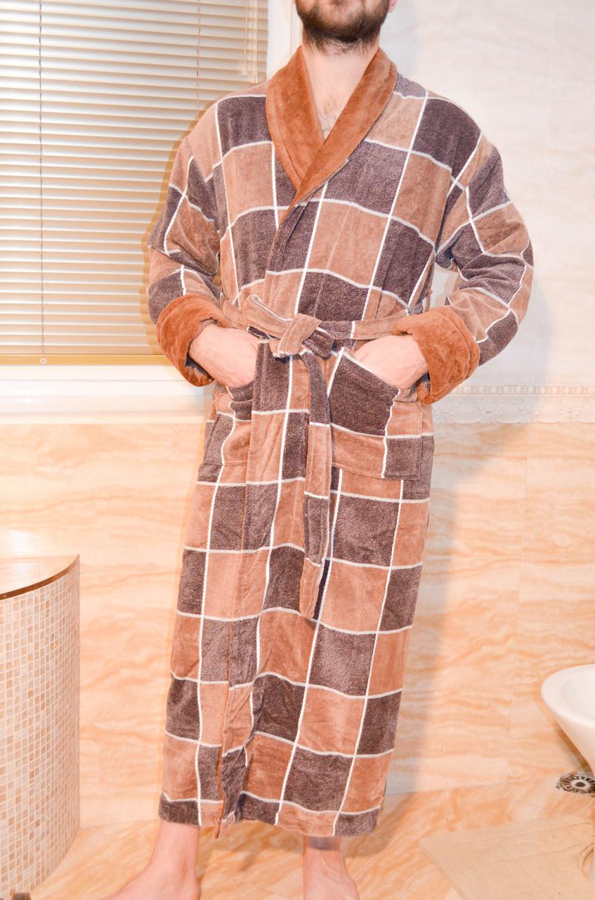 Красивый мужской халат из натуральной махры. Размеры 46-66