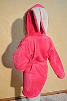 Детский халатик с ушками зайка