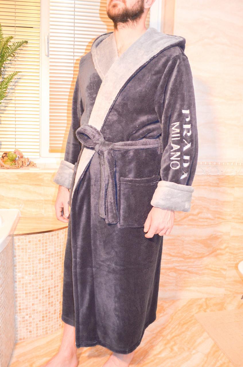 6ee4999086cd Модный мужской махровый халат софт с вишывкой - купить по лучшей ...