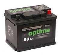 Автомобильный аккумулятор Sada Optima 6СТ-60 (-/+) Евро 12В 60Ач 570А