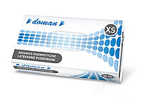 Рукавички латексні, припудрені DOMAN - 100 шт/уп, XS