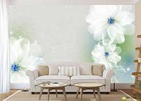"""3D фотообои """"Воздушные цветы"""""""