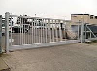 Ворота откатные металлические вариант №9