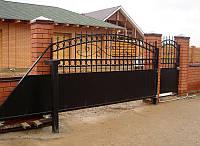 Ворота откатные металлические вариант №10