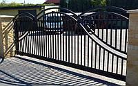 Ворота откатные металлические вариант №11
